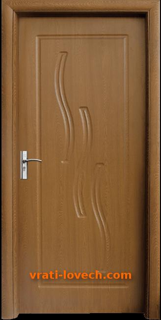 Интериорна HDF врата, модел 014-P Златен дъб