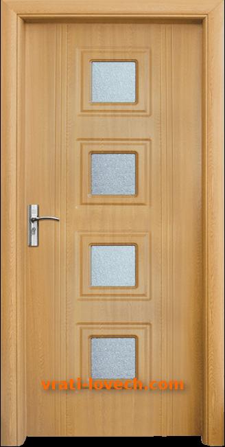Интериорна HDF врата, модел 021 Светъл дъб
