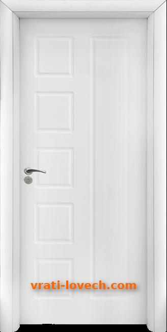 Интериорна HDF врата, модел 048-P Бял