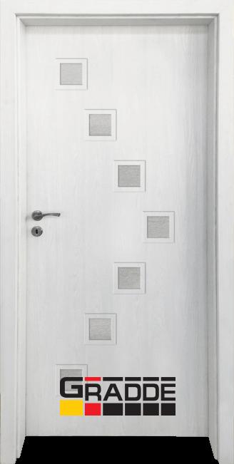 Интериорна HDF врата, модел Gradde Zwinger, Сибирска Лиственица