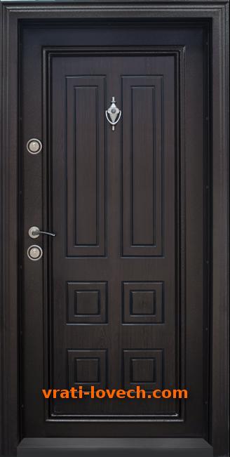 Блиндирана входна врата, модел Т503 Тъмен орех