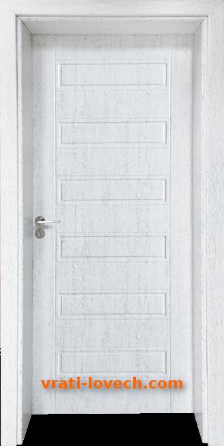 Стъклена интериорна врата Гама 207p, цвят Бреза