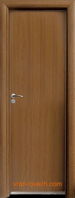 Алуминиева врата за баня – Стандарт цвят Златен Дъб